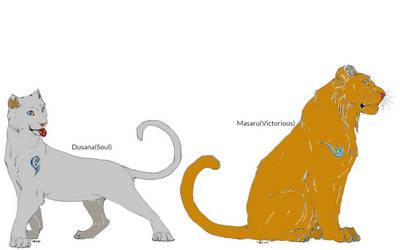 Lion Guard Tiger Siblings OCs: Dusana and Masaru