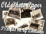 Old photo paper image set