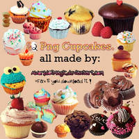 -22 Cupcakes Png By Me'. by aworldofmagic