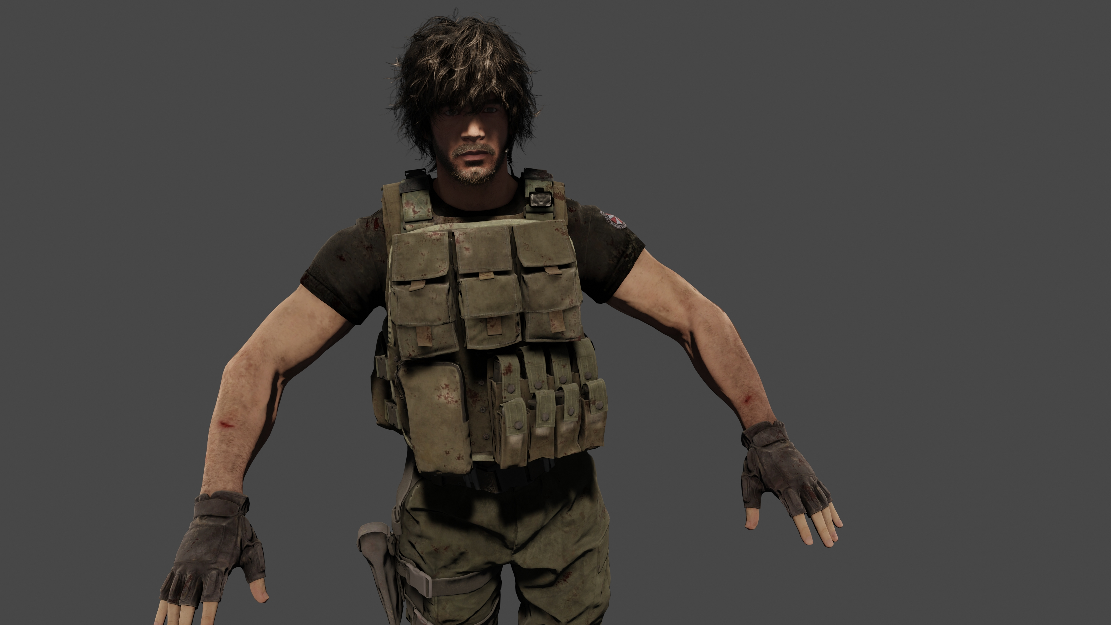 Resident Evil 3 Remake Carlos Oliveira 3d Model By Mattcroft008 On