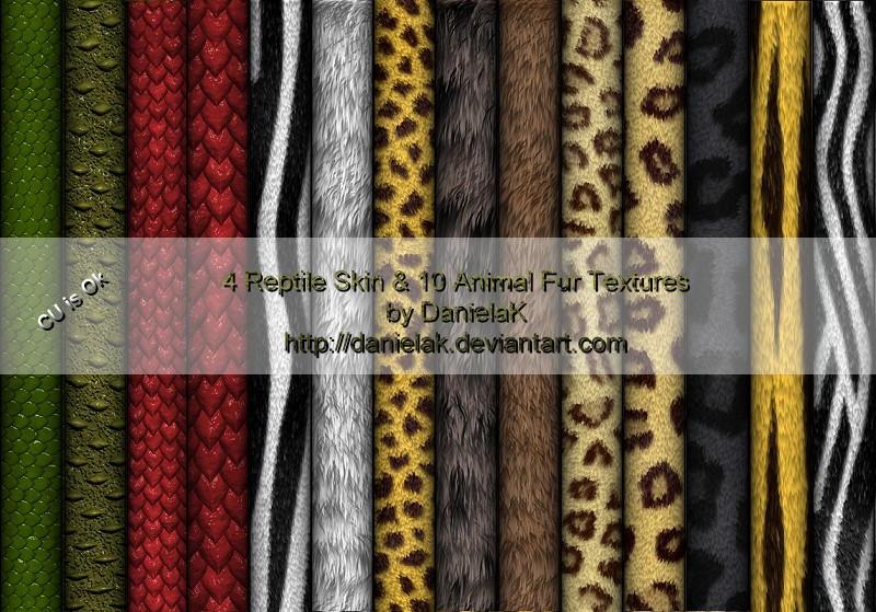 Reptile Skins and Animal Fur by DanielaK