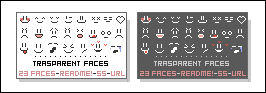 Transparent Smiley Faces by JoMajik