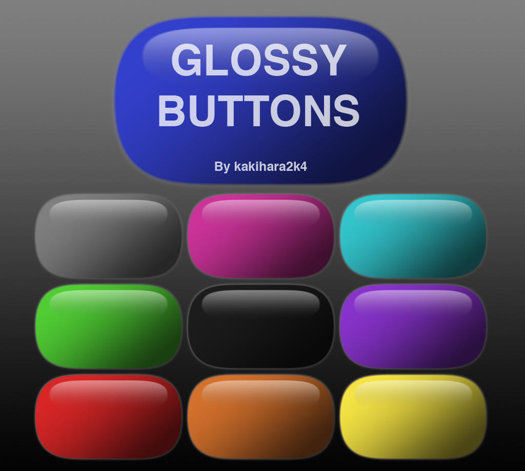 Glossy Buttons by ironiclensflare
