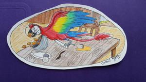 Naughty Baby Parrot Dragon by iZemora