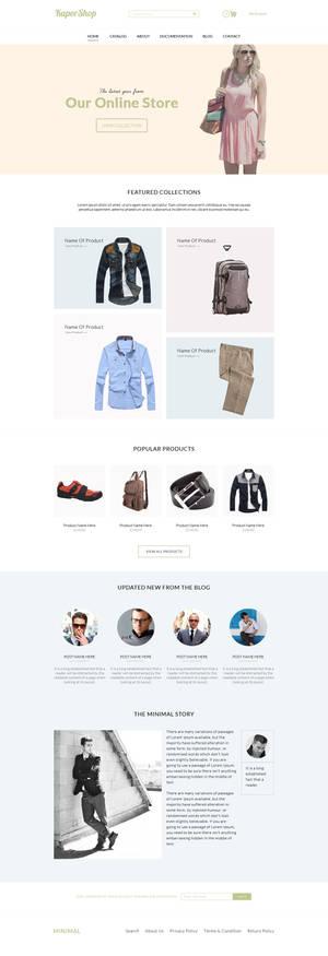 KaporShop || Web Design in Photoshop Free PSD FILE