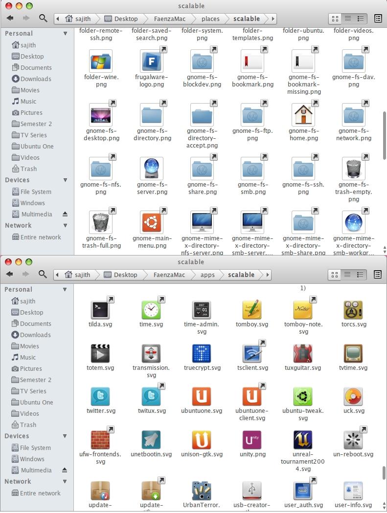 FaenzaMac icon theme-modified