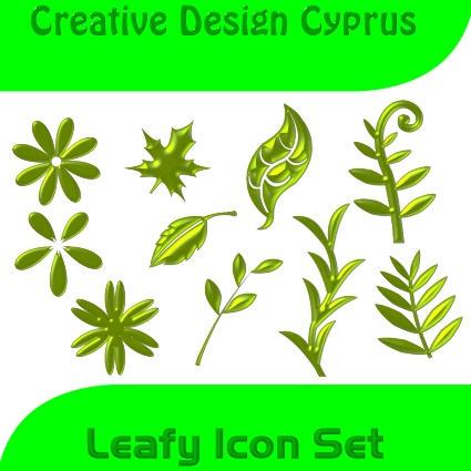 Leafy Icon Set by cyprus13