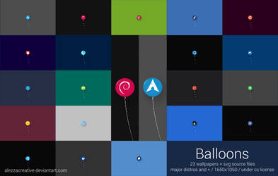Balloons gnu/linux distros wallpapers