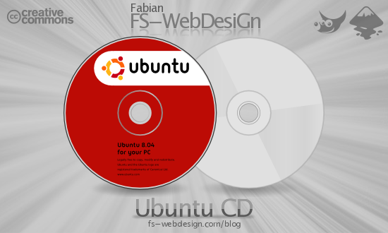 Ubuntu CD Hardy 8.04 by fabianff