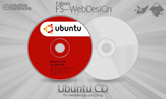 Ubuntu CD Hardy 8.04 by fabianff