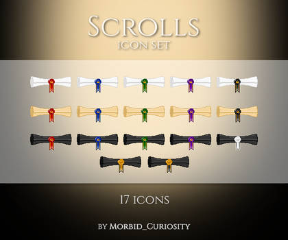 Scrolls icon set