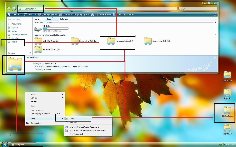 Change Vista Default Folder