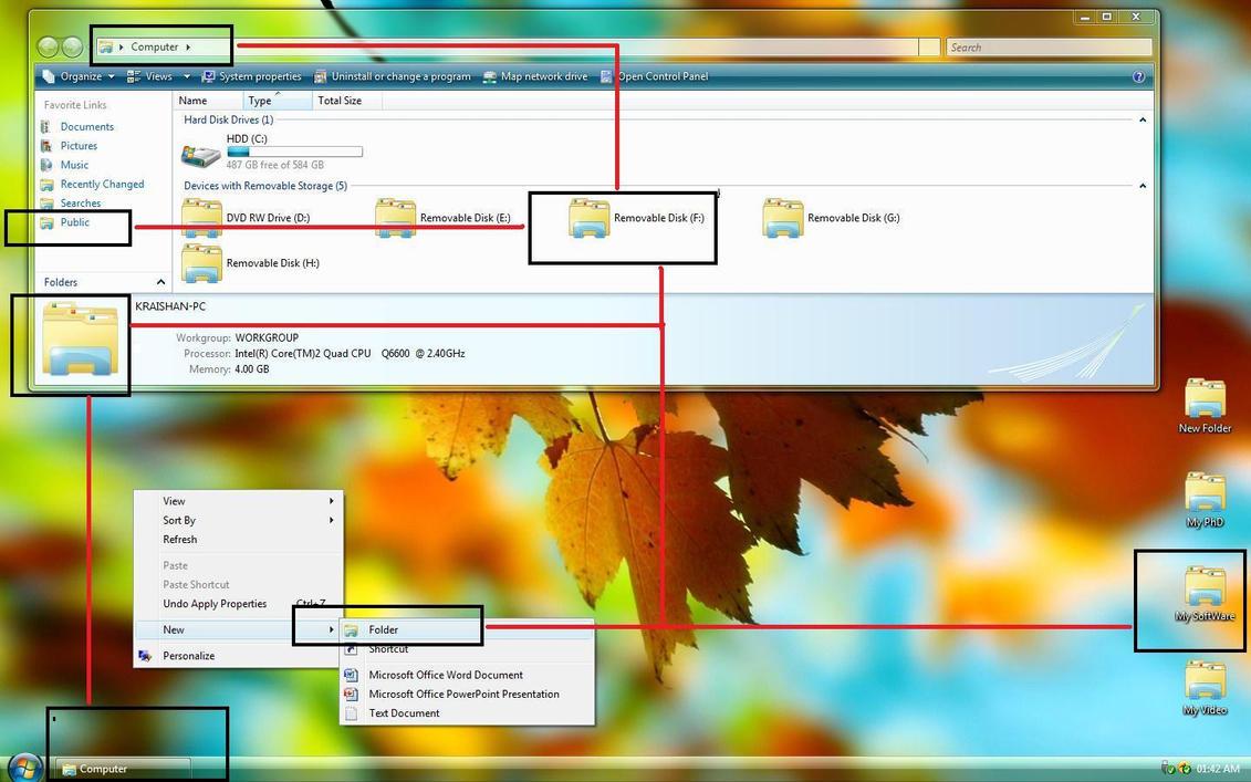 Change Vista Default Folder by Kraishan