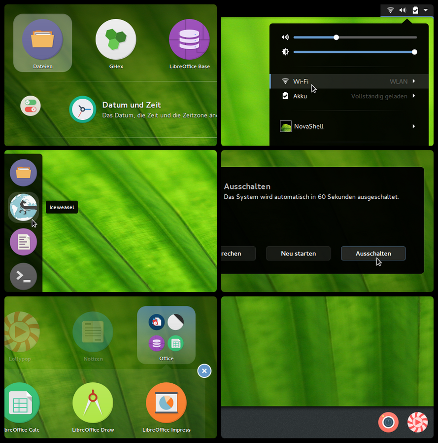 NovaShell (GNOME-Shell Theme) by Utivis