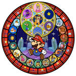 Paper Mario KH Stain Glass