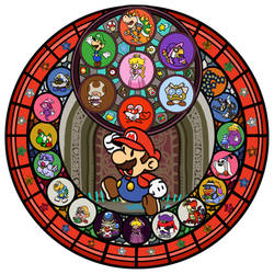 Paper Mario Thousand Year Door KH Stain Glass