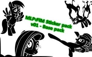 Pony sticker pack v01 by PoldekPL