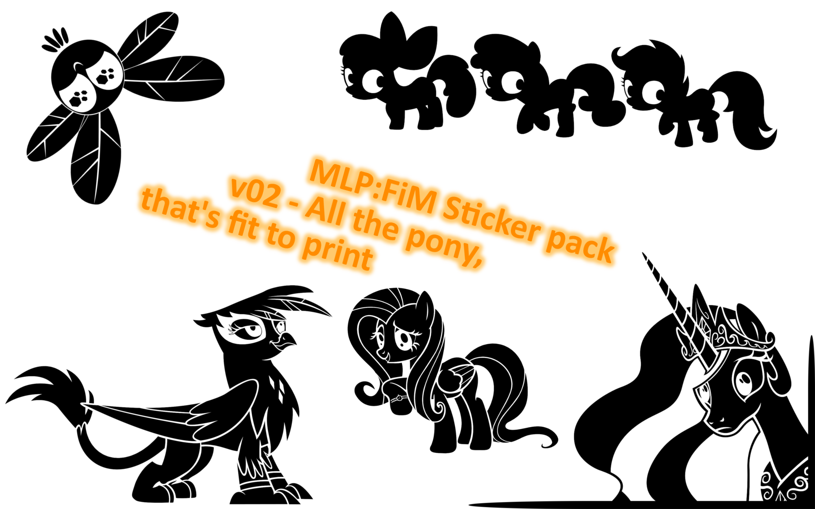 Pony sticker pack v02 by PoldekPL