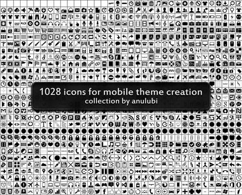 1028 icons (custom shapes for photoshop)