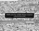 1028 icons (custom shapes for photoshop)