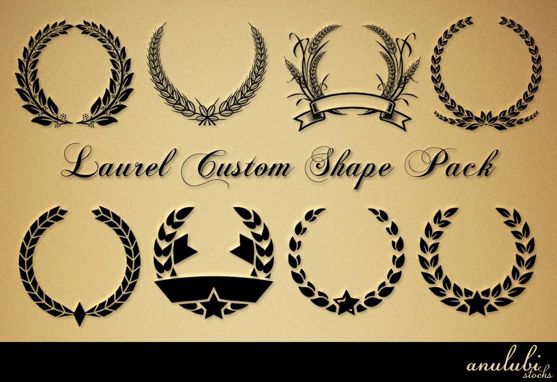 Laurel Custom shape Pack [Photoshop] by anulubi on DeviantArt