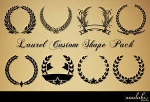 Laurel Custom shape Pack [Photoshop] by anulubi