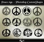 Peace Signs - Photoshop Custom Shapes