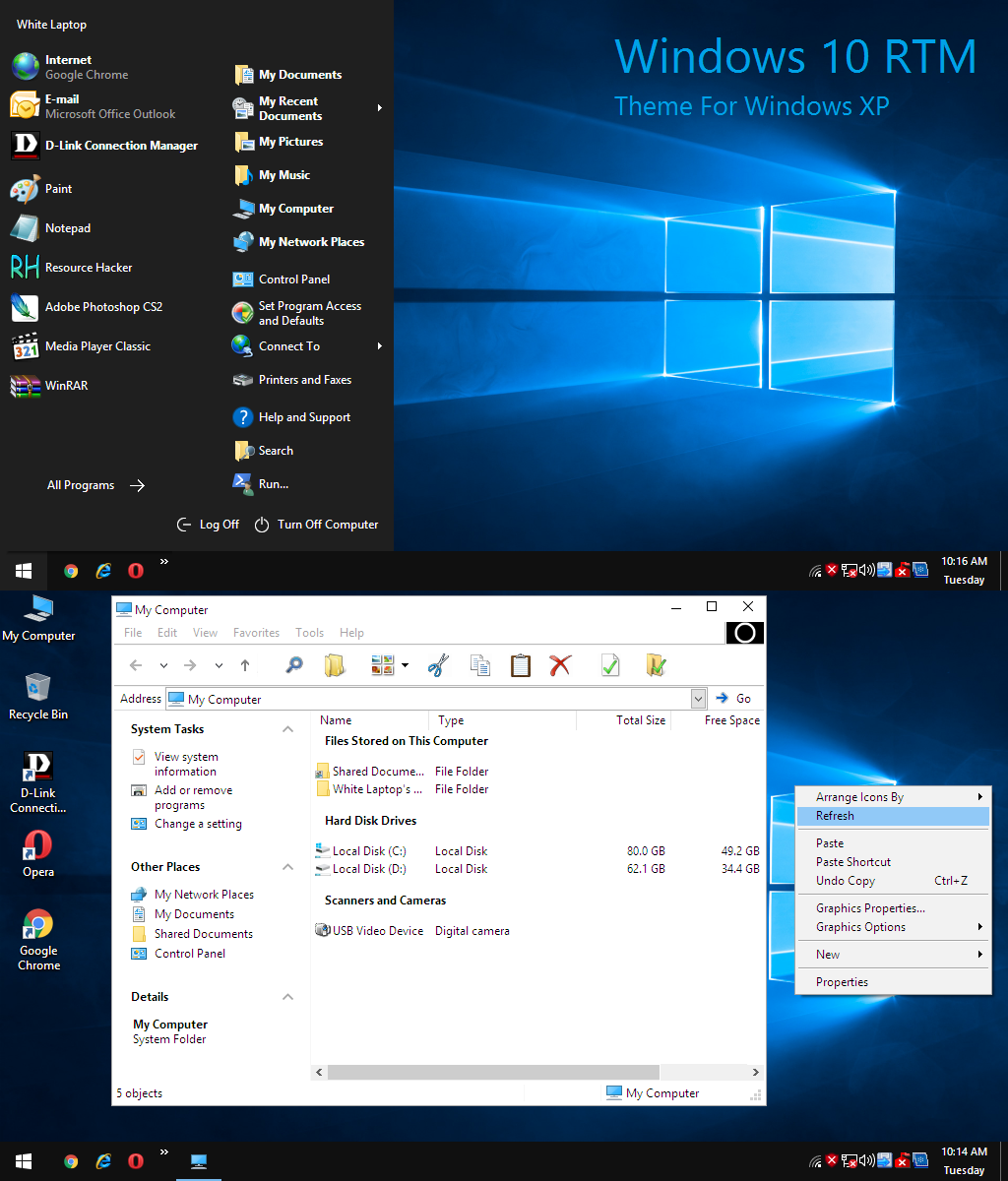 how to get windows xp sounds on windows 10
