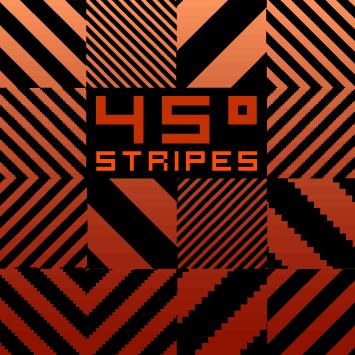 45 Degrees Stripes Pattern by nagash