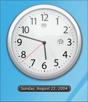 Chrome Clock for sysstats