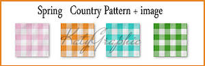 Spring country pattern