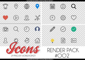 +RENDER PACK//ICONS SOCIALS OO2 by worldxcrazy