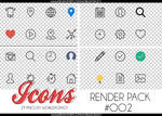 +RENDER PACK//ICONS SOCIALS OO2