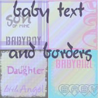 baby text and icon borders by lisaedson
