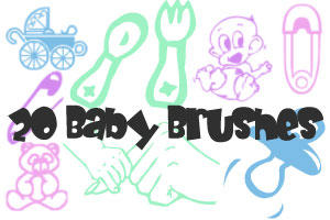 Baby brushes PS7 and imagepack by lisaedson