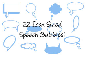 Speech bubbles and imagepack