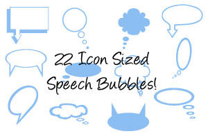 Speech bubbles and imagepack by lisaedson