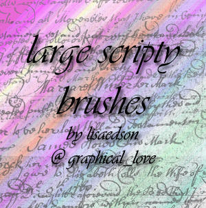 Hand script brushes - PS7 by lisaedson