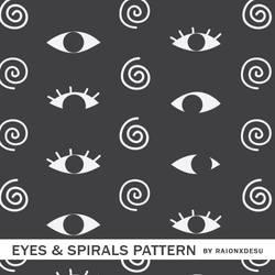 Eyes And Spirals Pattern