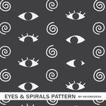 Eyes And Spirals Pattern