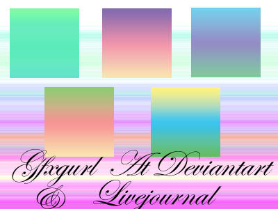 Gradient Texture Set by gfxgurl