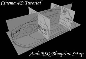 How To Setup Blueprints in C4D by hmoob-phaj-ej