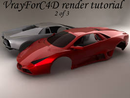 Simple VrayforC4D Car 2of3 by hmoob-phaj-ej
