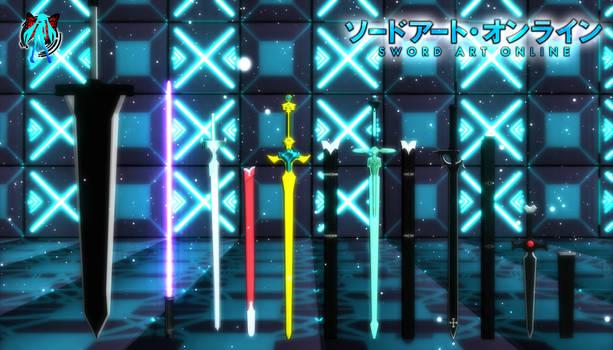 MMD Sword art Online Swords Pack + Download