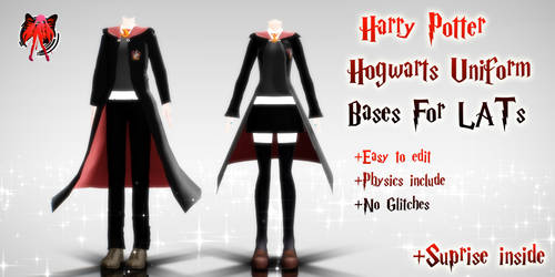 MMD Lat Hogwarts Bases + DL
