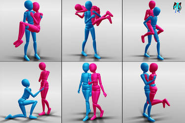 Couple Pose Pack X1 - Download