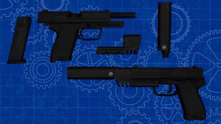 [MMD] HK USP 45 custom for DL
