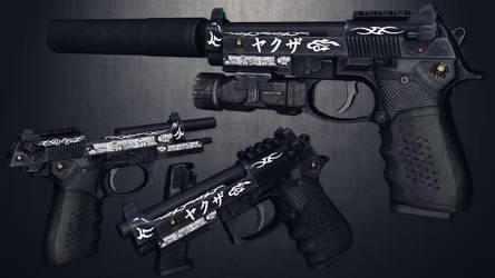 [MMD] Beretta MOD.9A1 customized for DL