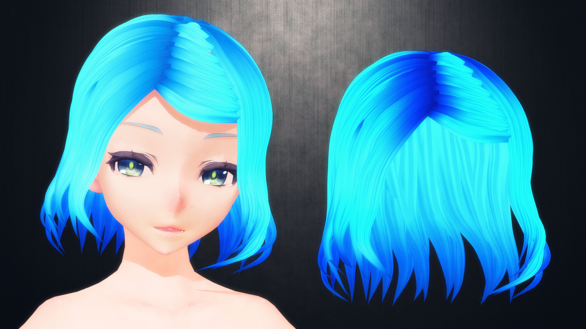 [MMD] Hair for DL (but you won't cuz it's ugly) by AbyssLeo