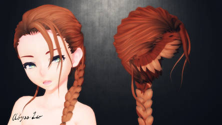[MMD] OMFG!Stop...stop!( can't )(still a hair DL) by AbyssLeo